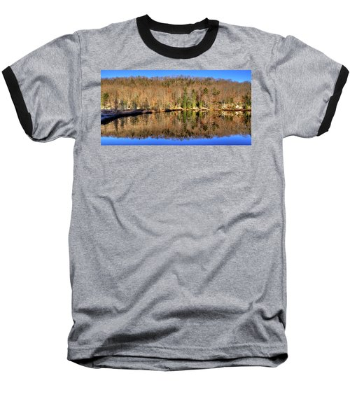 Baseball T-Shirt featuring the photograph Pond Reflections by David Patterson