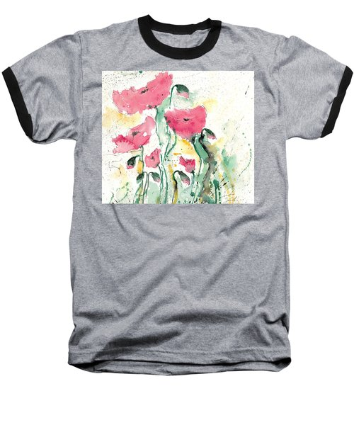 Poppies 10 Baseball T-Shirt