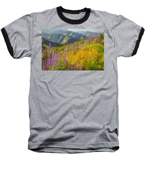 Poppies And Lupine Baseball T-Shirt by Marc Crumpler