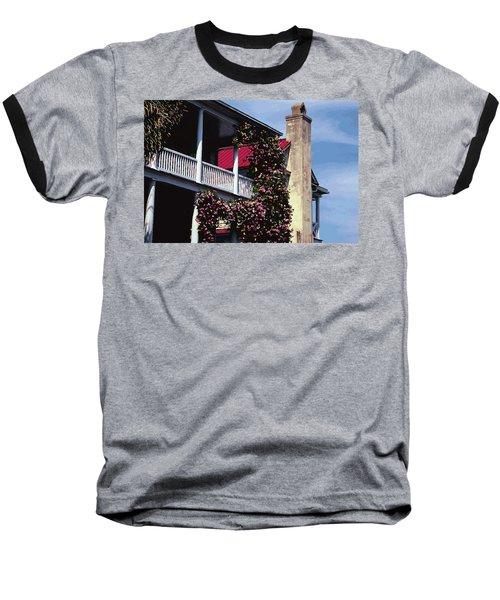 Porch In Bloom Baseball T-Shirt by Glenn Gemmell