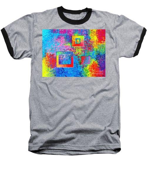 Portals Of Color Baseball T-Shirt by Jeremy Aiyadurai