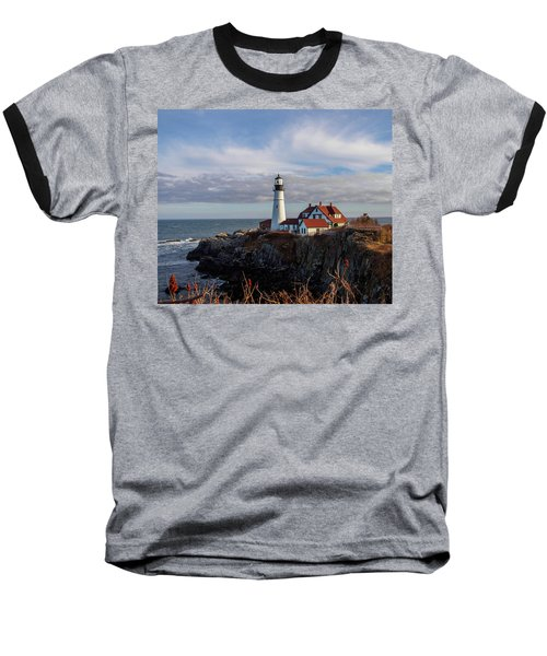 Baseball T-Shirt featuring the photograph Portland Head Light by Trace Kittrell