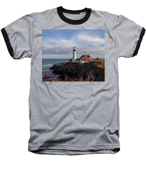 Portland Head Light Baseball T-Shirt by Trace Kittrell