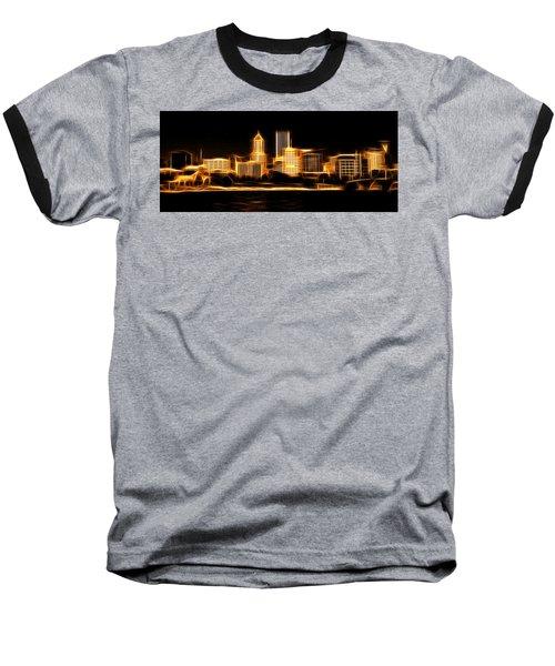 Oregon Baseball T-Shirt featuring the photograph Portland Oregon Skyline  by Aaron Berg