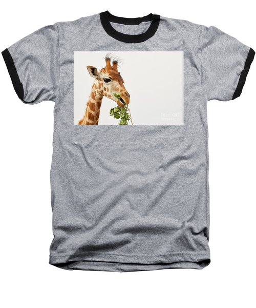 Portrait Of A Rothschild Giraffe  Baseball T-Shirt