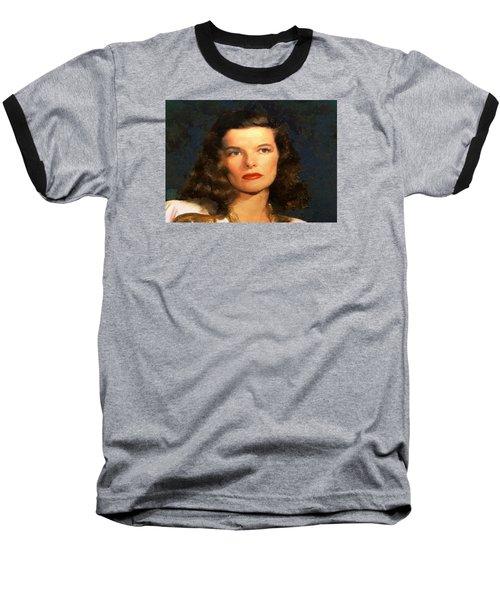 Portrait Of Katherine Hepburn Baseball T-Shirt