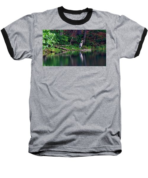 Posing Great Blue Heron  Baseball T-Shirt