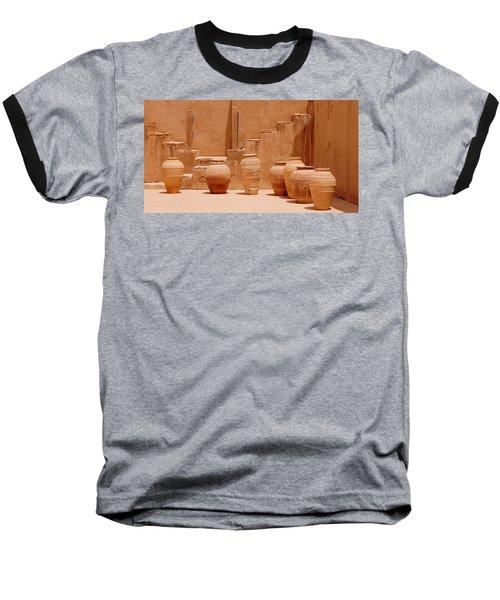 Pots Baseball T-Shirt by Debi Demetrion