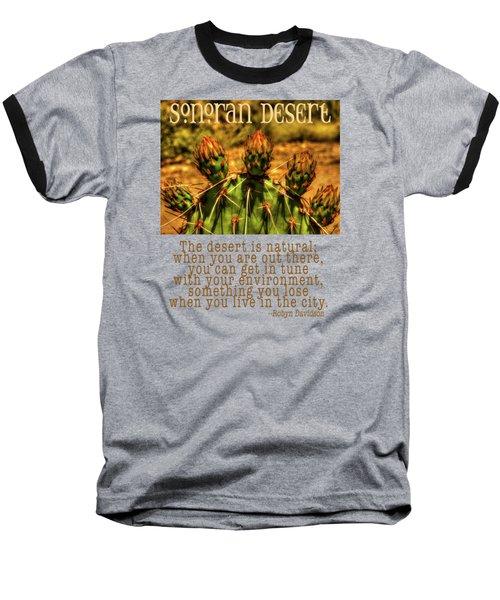 Prickly Pear Cactus Baseball T-Shirt by Roger Passman