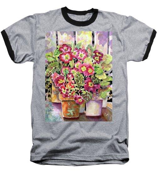 Primroses In Pots Baseball T-Shirt