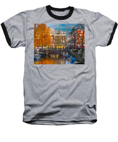 Prinsengracht 807. Amsterdam Baseball T-Shirt