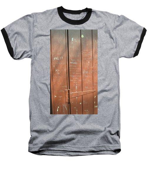 Prison Graffiti Baseball T-Shirt