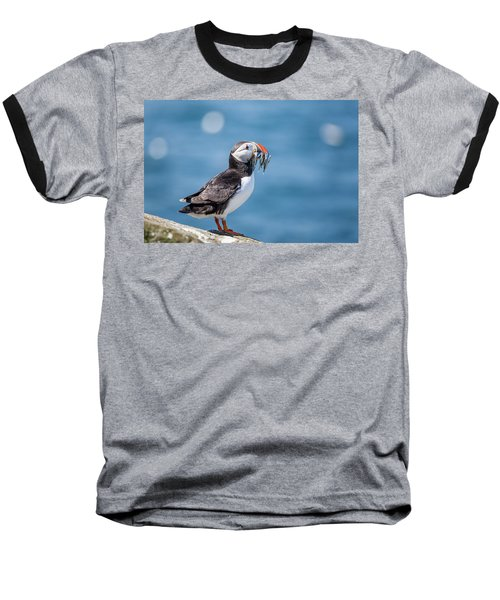 Puffin With Fish For Tea Baseball T-Shirt