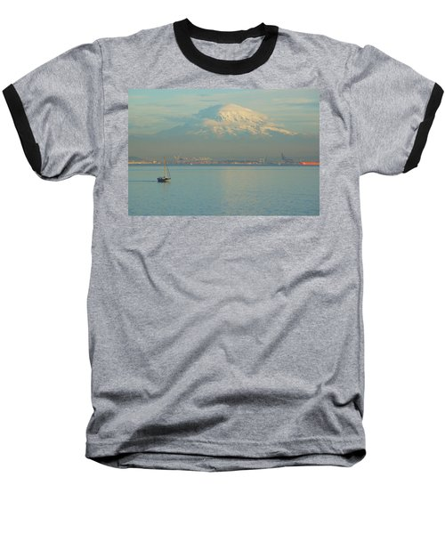 Baseball T-Shirt featuring the photograph Puget Sound by Angi Parks