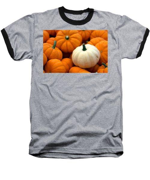 Pumpkins Baseball T-Shirt by Joseph Skompski