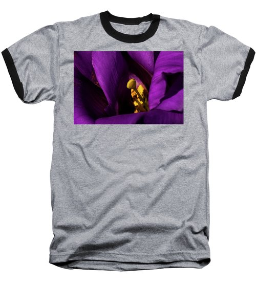 Baseball T-Shirt featuring the photograph Purple And Yellow by Jay Stockhaus