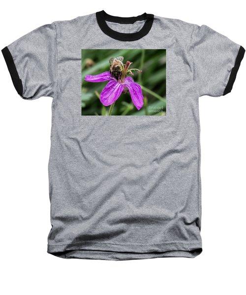 Purple Flower 3 Baseball T-Shirt