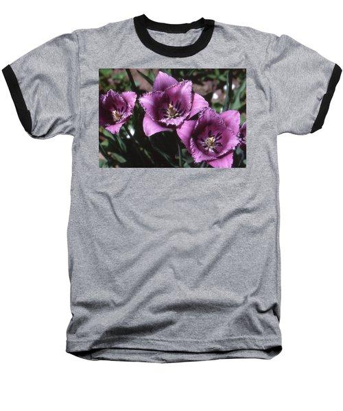 Purple Flowers Two  Baseball T-Shirt