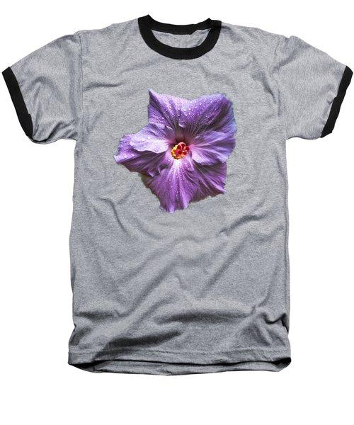 Purple Hibiscus Baseball T-Shirt