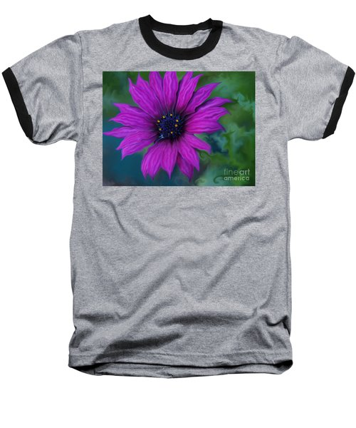 Purple Baseball T-Shirt by Trena Mara