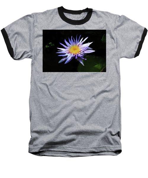 Purple Water Lily Baseball T-Shirt