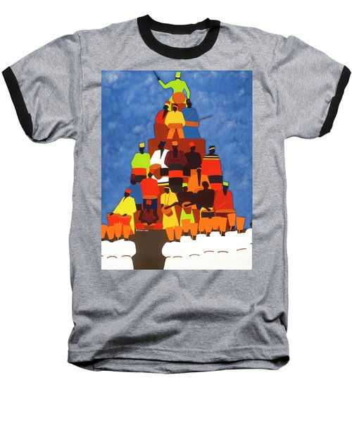 Pyramid Of African Drummers Baseball T-Shirt