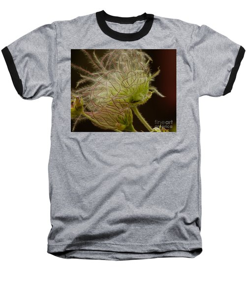 Quirky Red Squiggly Flower 3 Baseball T-Shirt