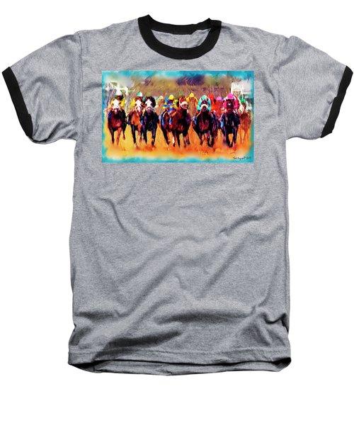 Race To The Finish Baseball T-Shirt