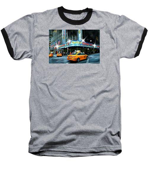 Radio City Baseball T-Shirt by Diana Angstadt