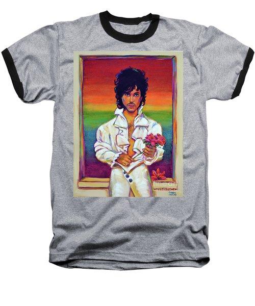 Rainbow Child Baseball T-Shirt by Robert Phelps