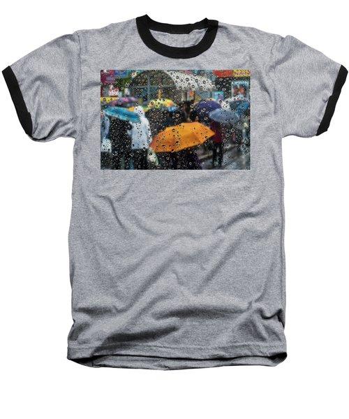Raining Baseball T-Shirt by Vladimir Kholostykh