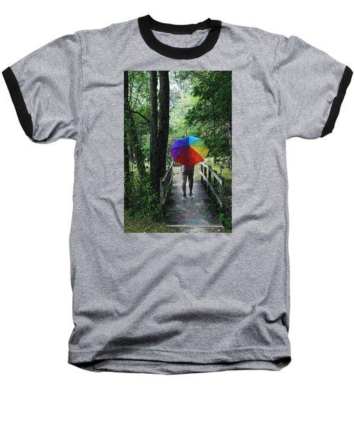 Baseball T-Shirt featuring the photograph Rainy Day by Judy  Johnson