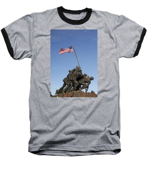 Raising The Flag On Iwo - 799 Baseball T-Shirt