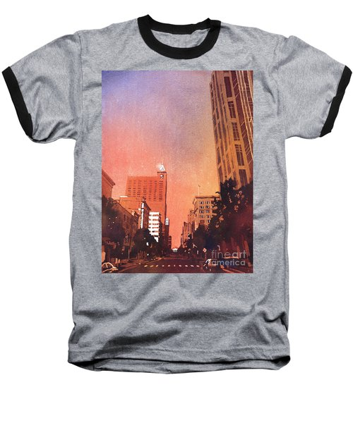 Raleigh Downtown Baseball T-Shirt by Ryan Fox