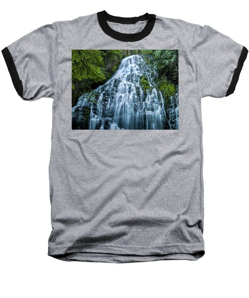 Ramona Falls Cascade Baseball T-Shirt