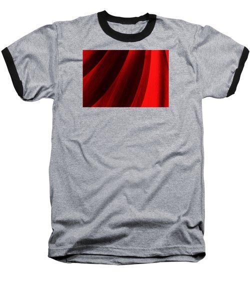 Red Chrysanthemum Dawn Rising Baseball T-Shirt by John Williams