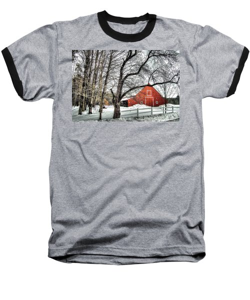 Red And White Baseball T-Shirt by Betsy Zimmerli