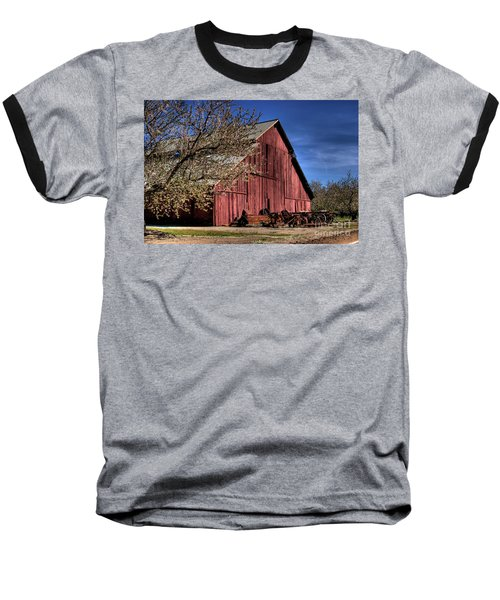 Red Barn Baseball T-Shirt by Jim and Emily Bush