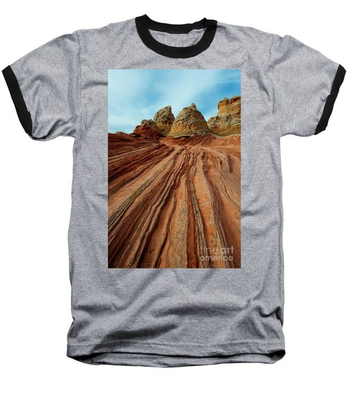 Baseball T-Shirt featuring the photograph Red Desert Lines by Mike Dawson