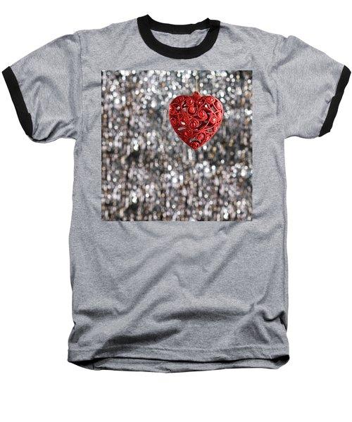 Baseball T-Shirt featuring the photograph Red Heart by Ulrich Schade