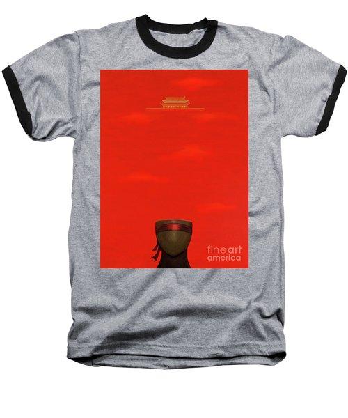 Red Impression Baseball T-Shirt