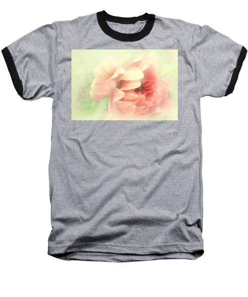 Red Peony Baseball T-Shirt