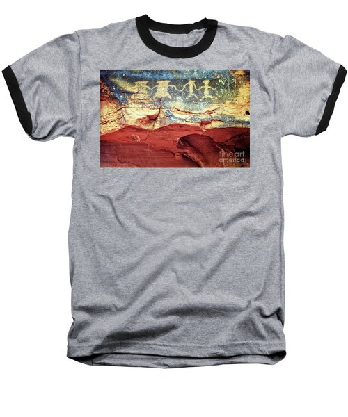 Red Rock Canyon Petroglyphs Baseball T-Shirt by Jim And Emily Bush