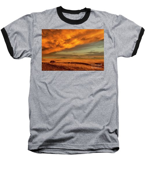 Red Rock Coulee Sunset 1 Baseball T-Shirt