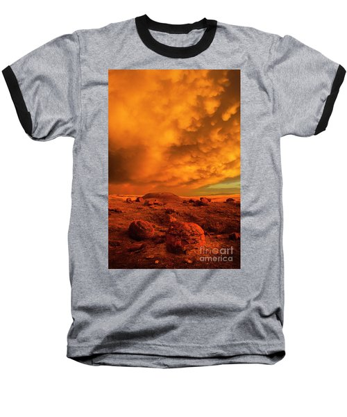Red Rock Coulee Sunset 2 Baseball T-Shirt