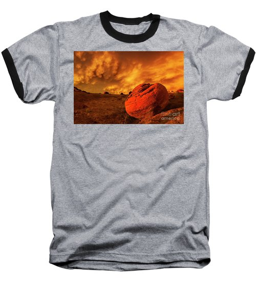 Red Rock Coulee Sunset 3 Baseball T-Shirt