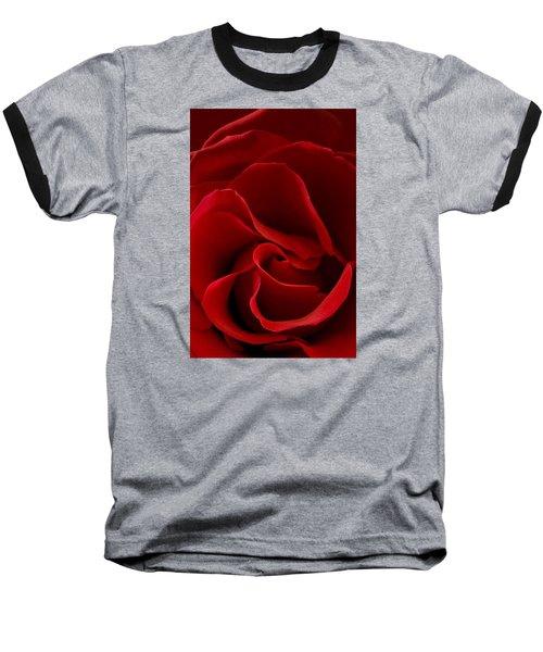 Red Rose Vi Baseball T-Shirt by George Robinson