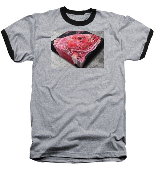 Red Snapper Baseball T-Shirt by William Love