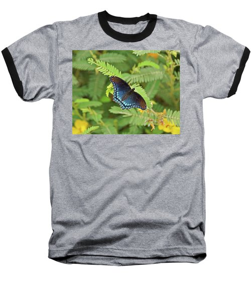 Baseball T-Shirt featuring the photograph Red Spotted Purple Butterfly by Sandy Keeton