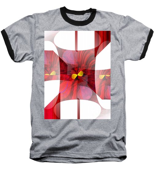 Red Transparency  Baseball T-Shirt